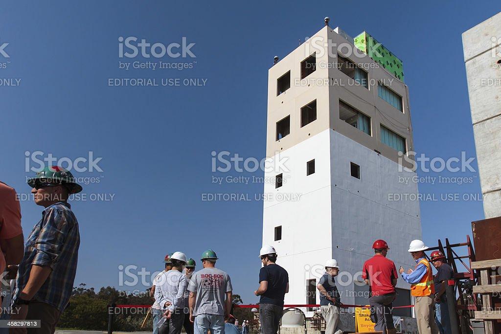 Full Scale Earthquake Test stock photo