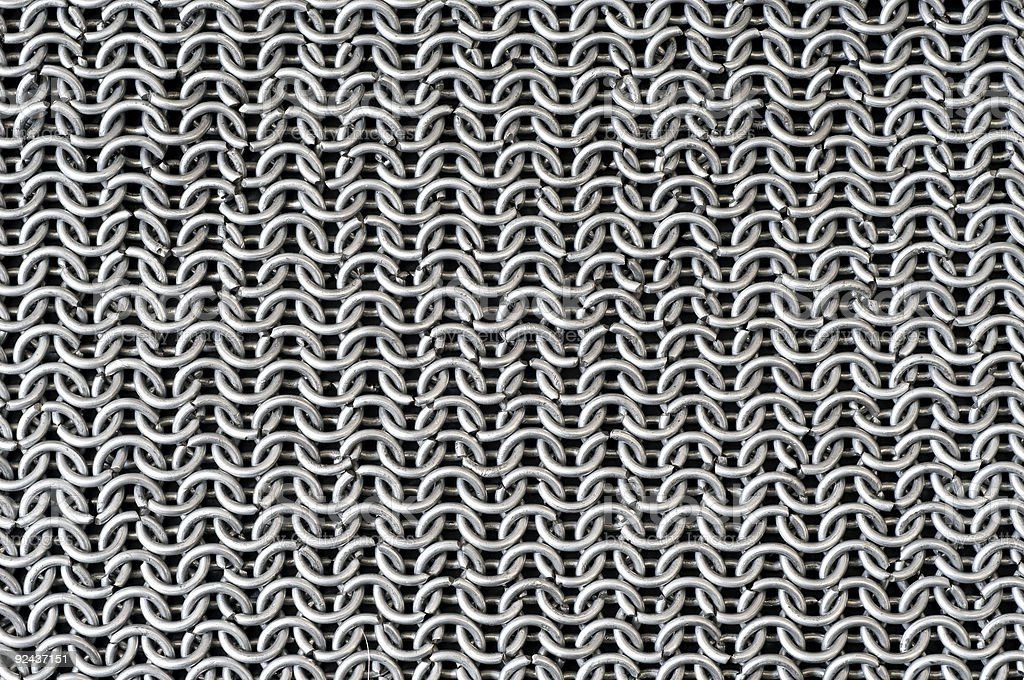 A full scale image of a steel net stock photo
