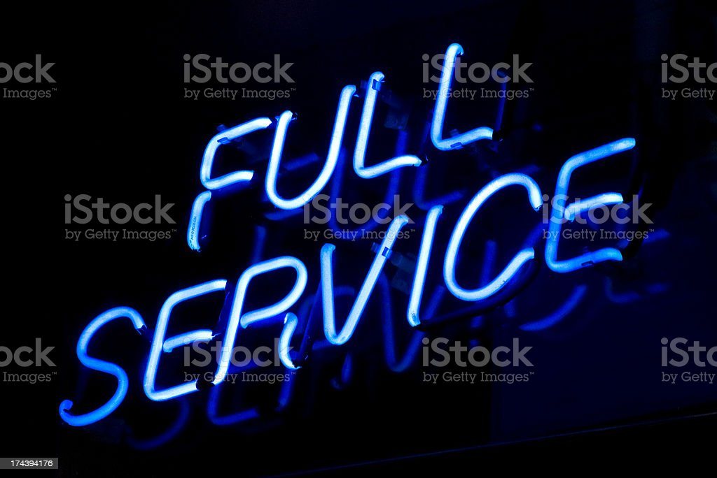 Full Service Sign stock photo