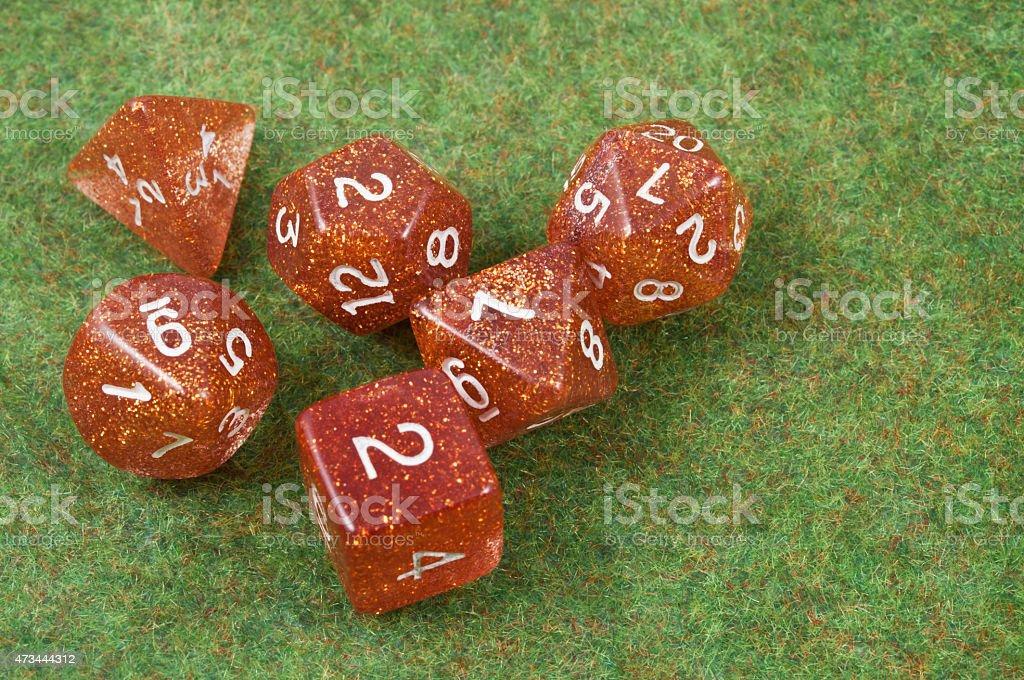 Full set of dice stock photo