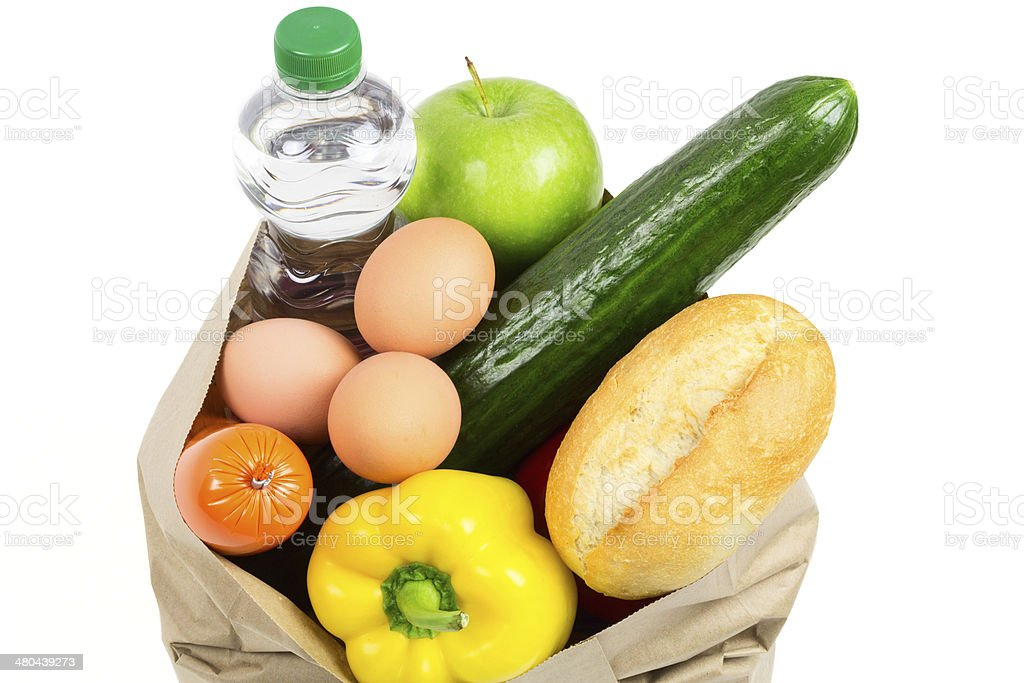 full shopping bag stock photo