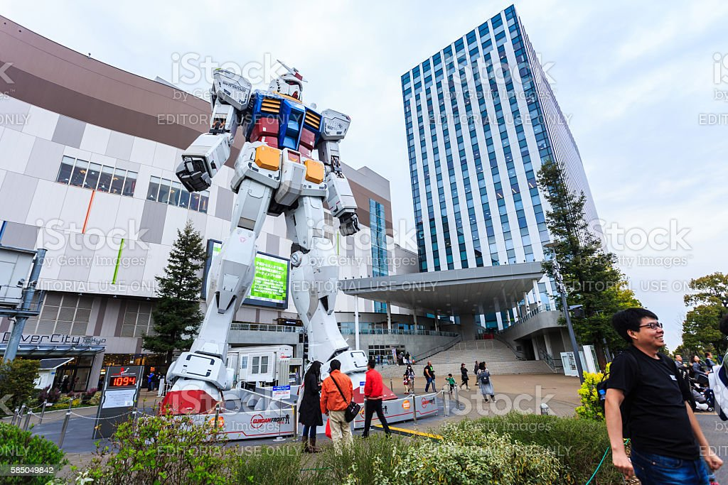 Full size Gundam. stock photo