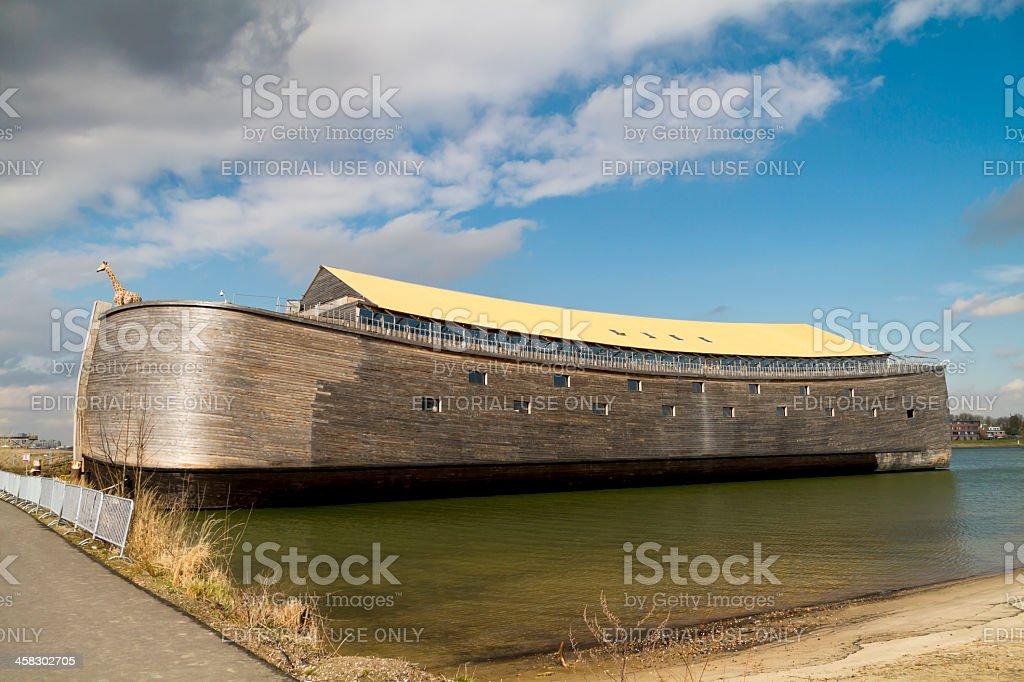 Full size wooden replica of Noah's Ark stock photo