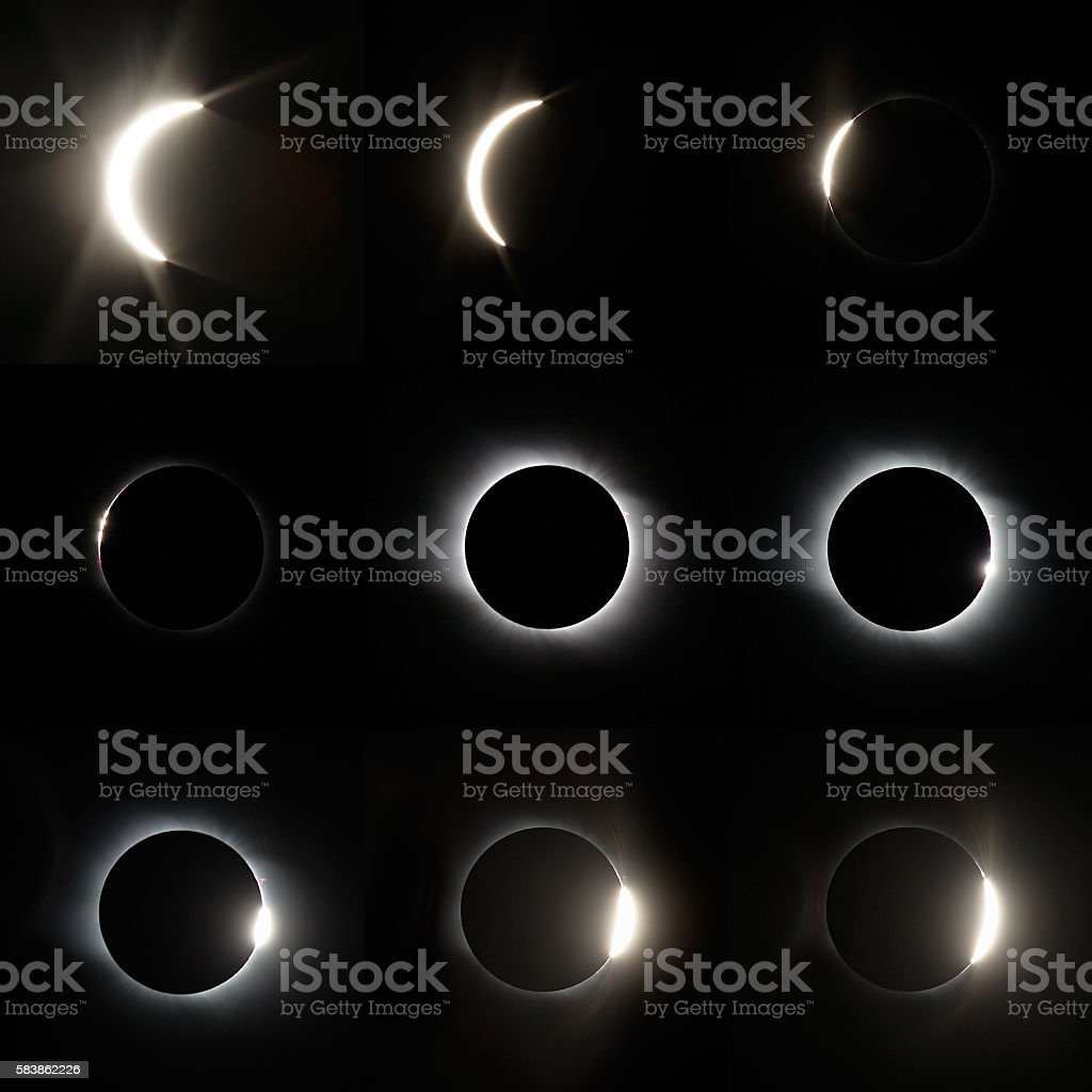 Full Solar Eclipse stock photo