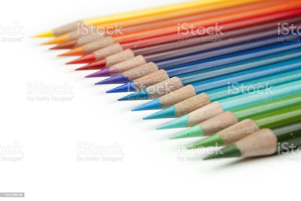 Full Spectrum of Color Pencils royalty-free stock photo