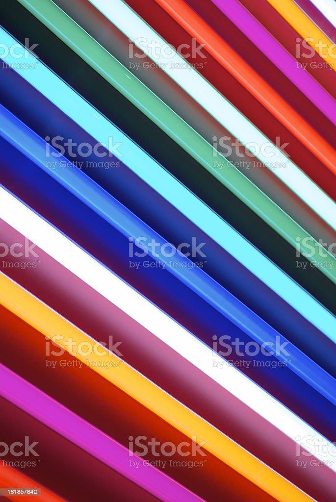 Full Spectrum of Fluorescent Lights in Rainbow Colors stock photo