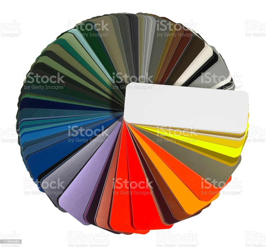 full spread color chart royalty-free stock photo