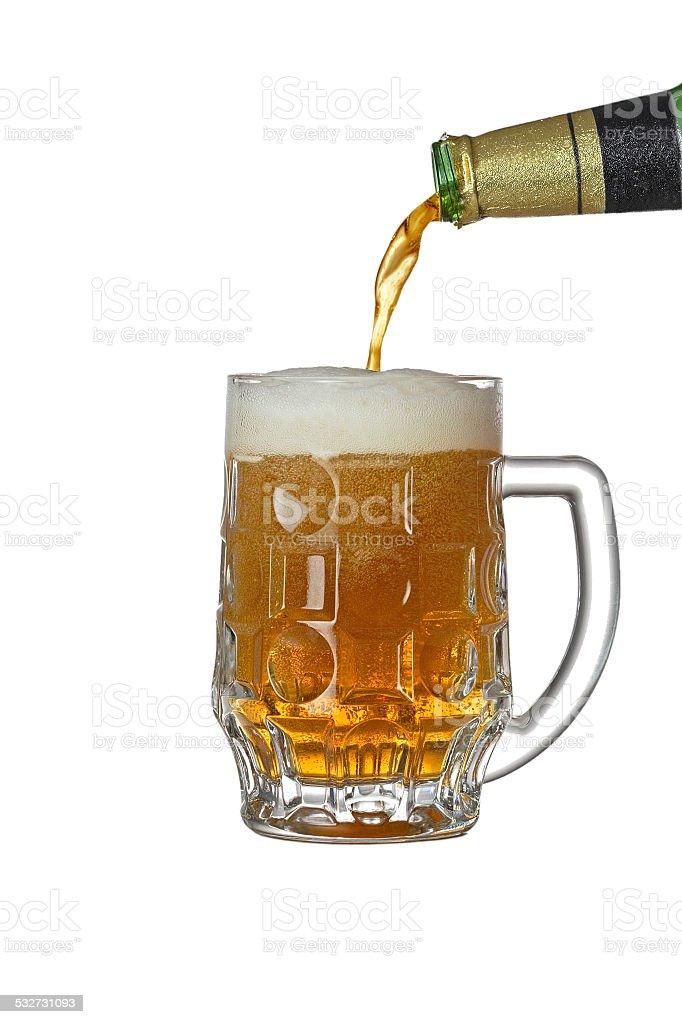 Full stein of beer stock photo