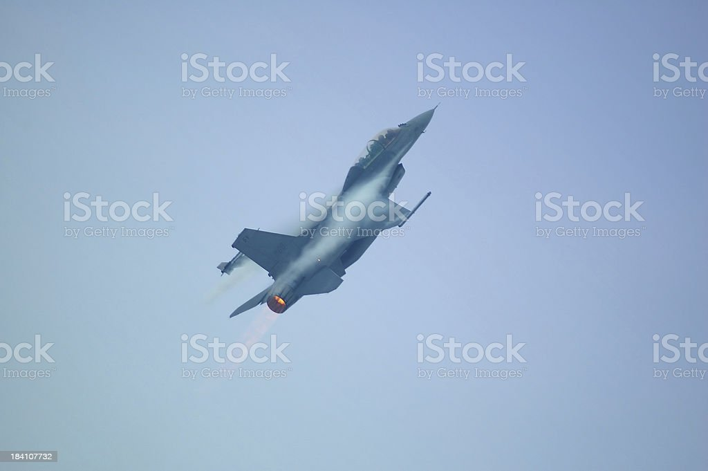 F16 full throttle stock photo