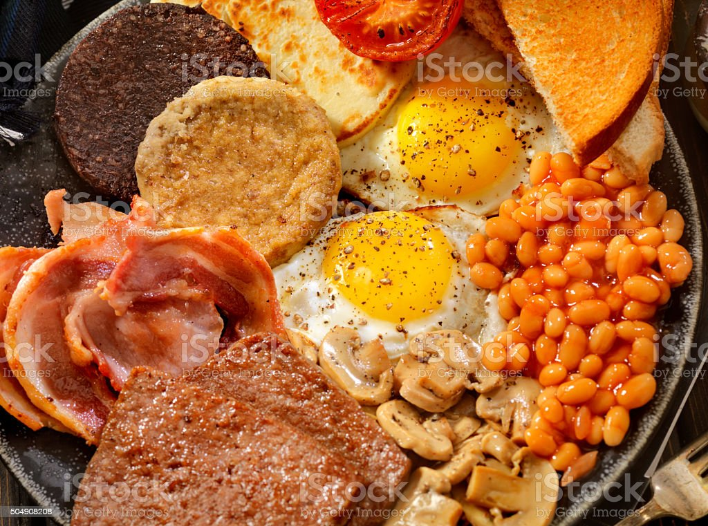 Full Traditional Scottish Breakfast stock photo