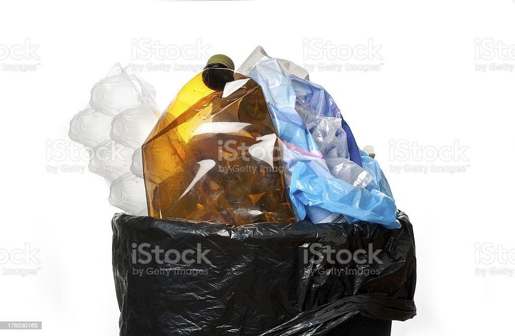 Full trash bin royalty-free stock photo