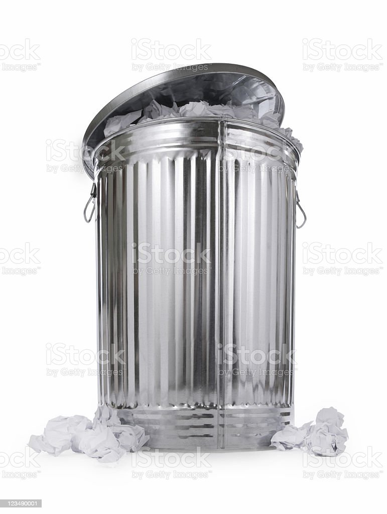 Full Trashcan stock photo