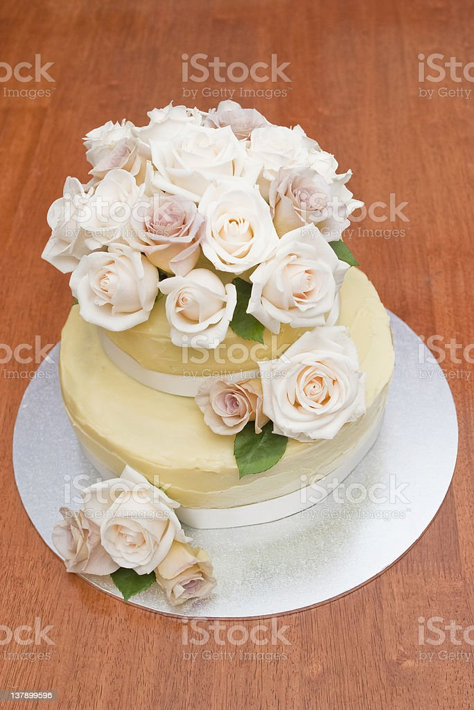 Full view of wedding cake stock photo