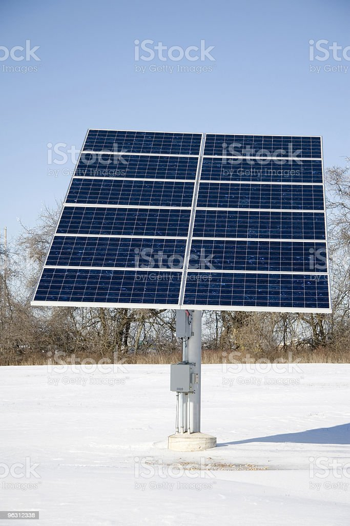 Full View Solar Panel royalty-free stock photo