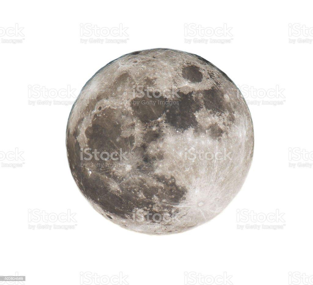 full yellow moon stock photo