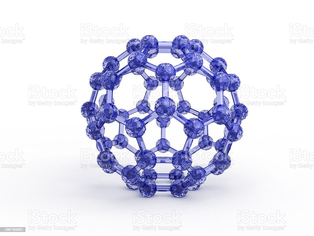 Fullerene - Buckminsterfullerene Molecule stock photo