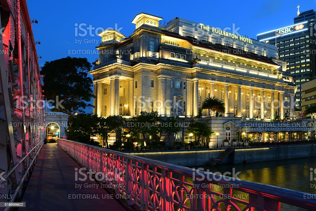 Fullerton Hotel, Singapore stock photo