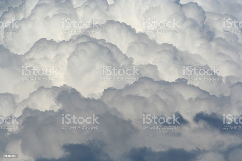 Full-Frame Fluffy Clouds royalty-free stock photo