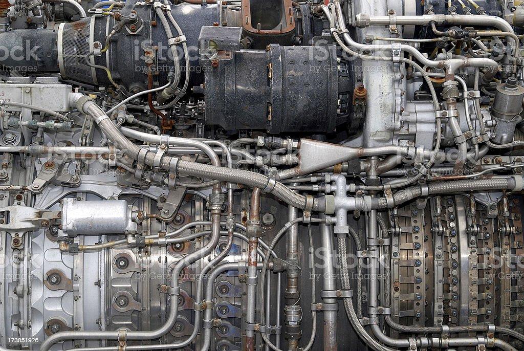 full-frame jet engine stock photo