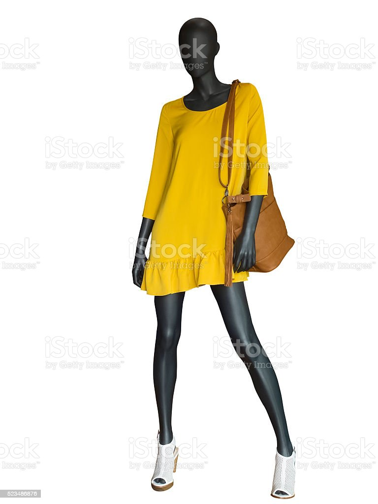 Full-length female mannequin. stock photo