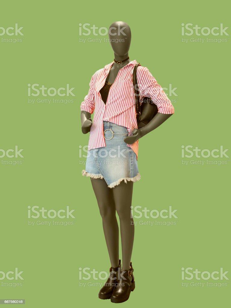 Full-length female mannequin stock photo