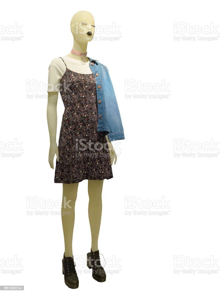 Full-length female mannequin stock photo