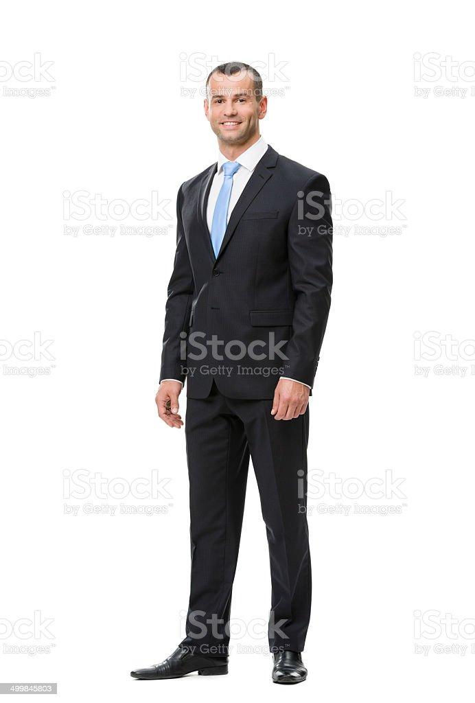 Full-length portrait of business man stock photo