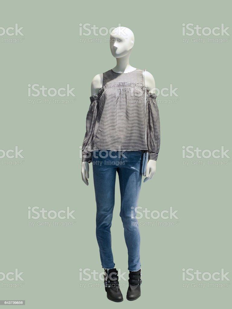 Full-lens female mannequin stock photo