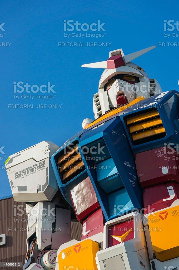 Full-size Gundam Statue Performances stock photo
