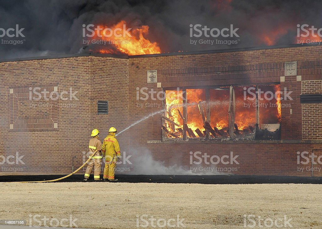 Fully Engulfed royalty-free stock photo