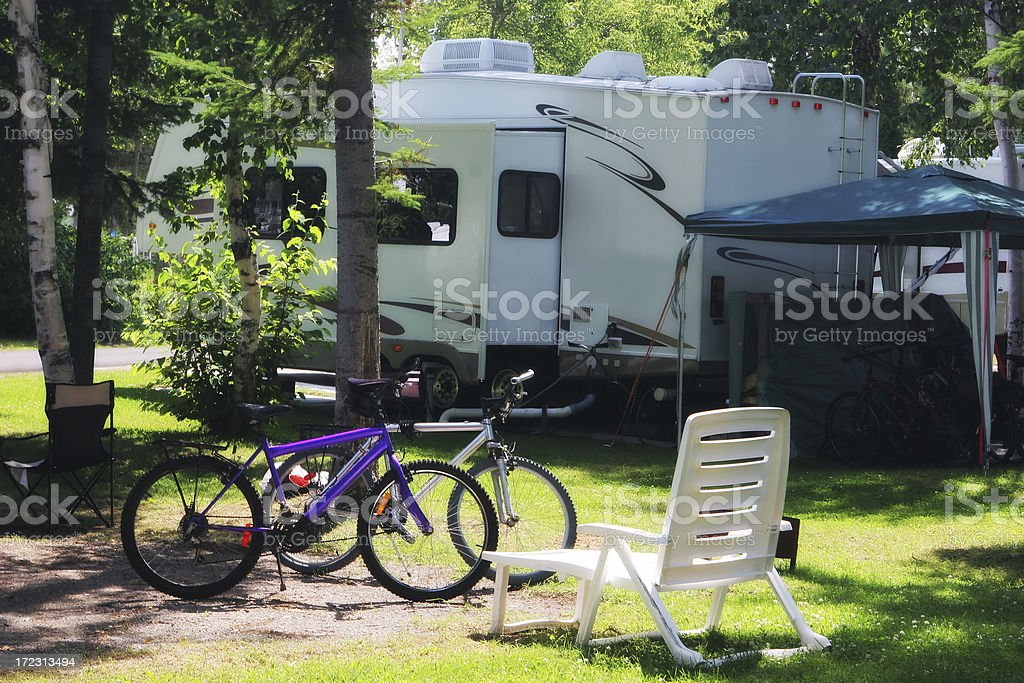 Fully Equiped Camping stock photo