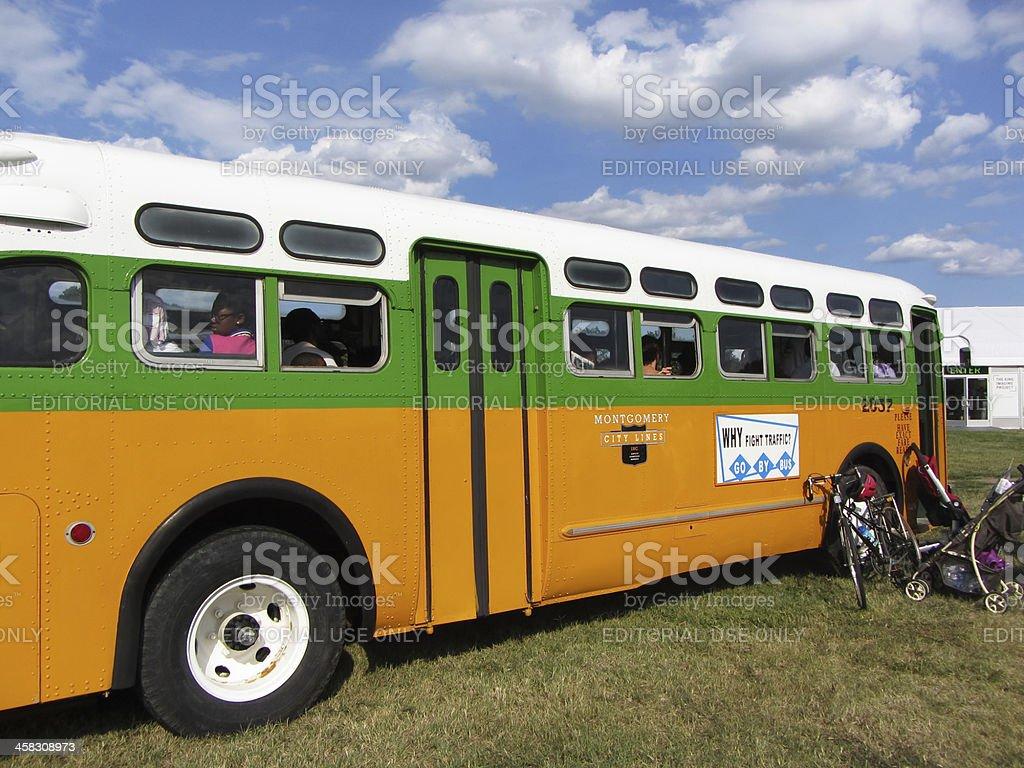 Fully Restored Rosa Parks Bus stock photo