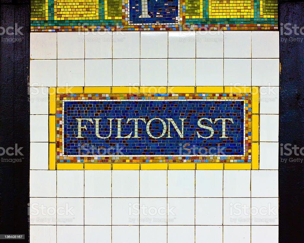 Fulton Street Subway NYC stock photo