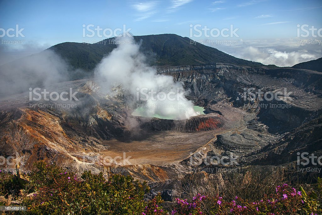 Fumarole Activity at the Po?s Crater royalty-free stock photo