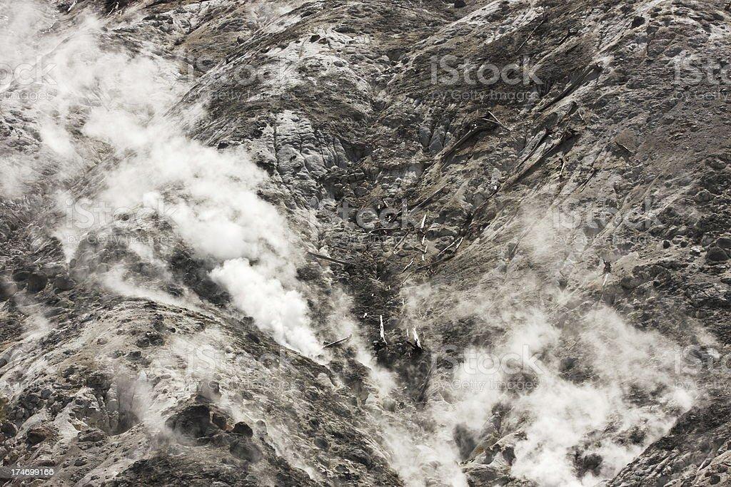 Fumarole Steam Mud Pot Yellowstone Volcano royalty-free stock photo
