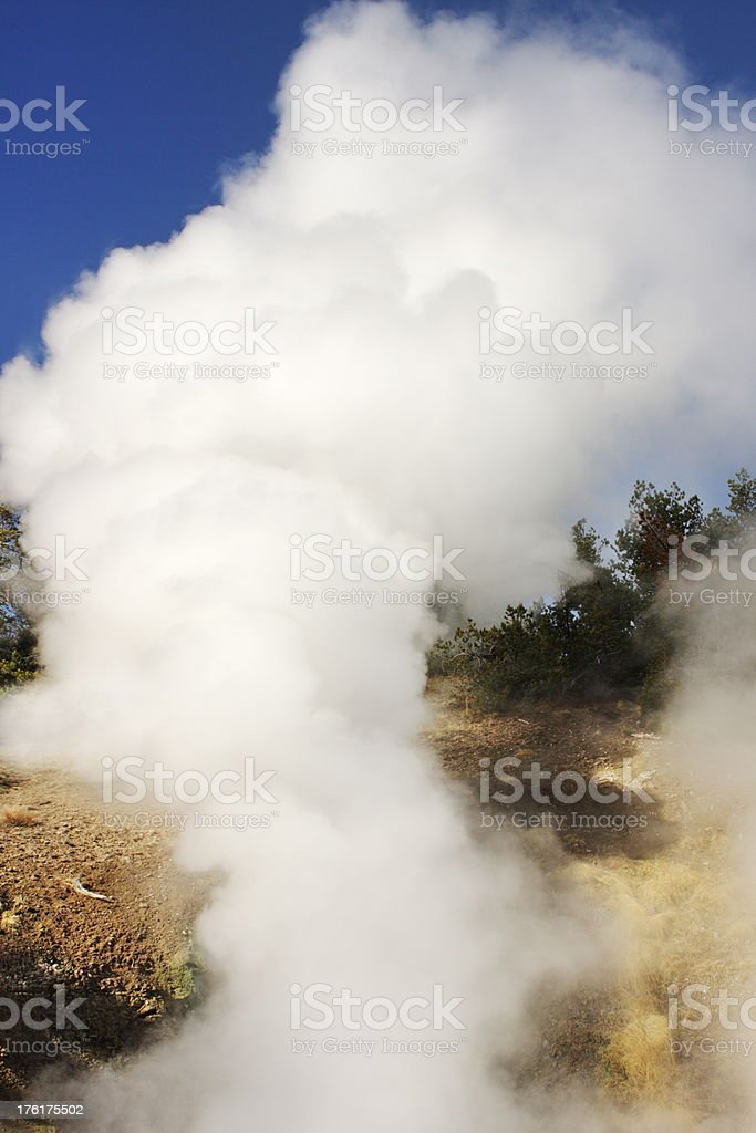 Fumarole Steam Mud Pot Yellowstone Volcano stock photo