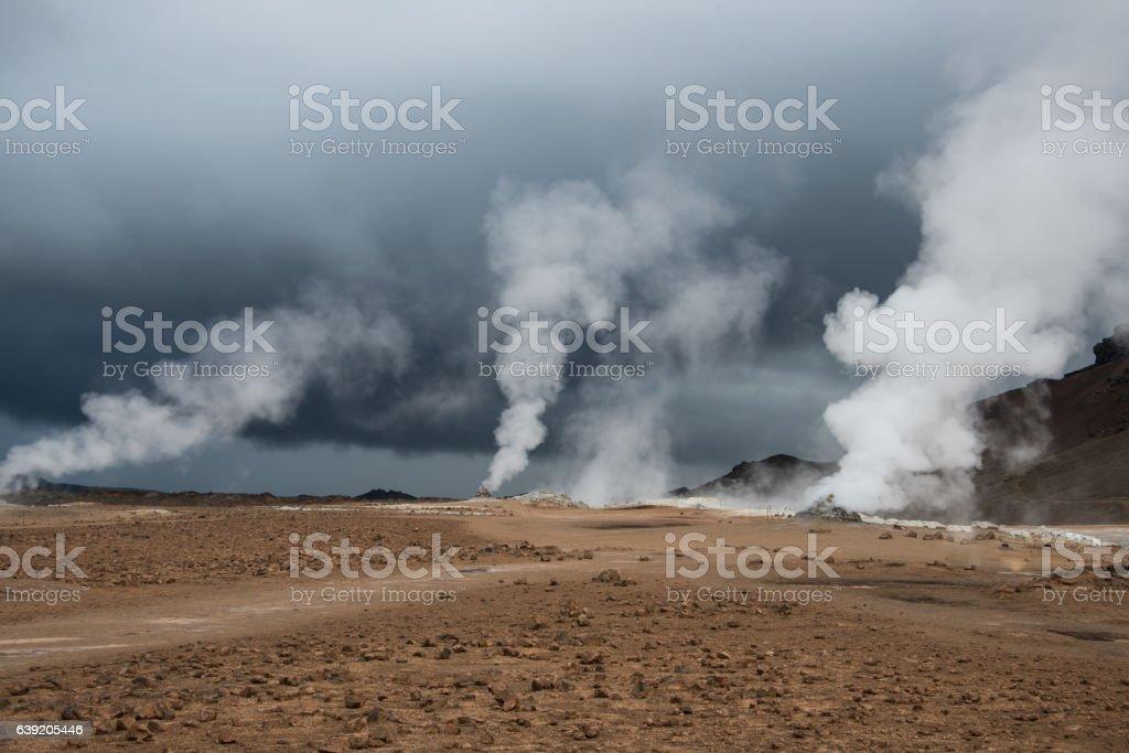Fumaroles of Hvrerir stock photo