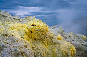fumarolic field at the Mendeleev volcano, Kunashir island, Russi
