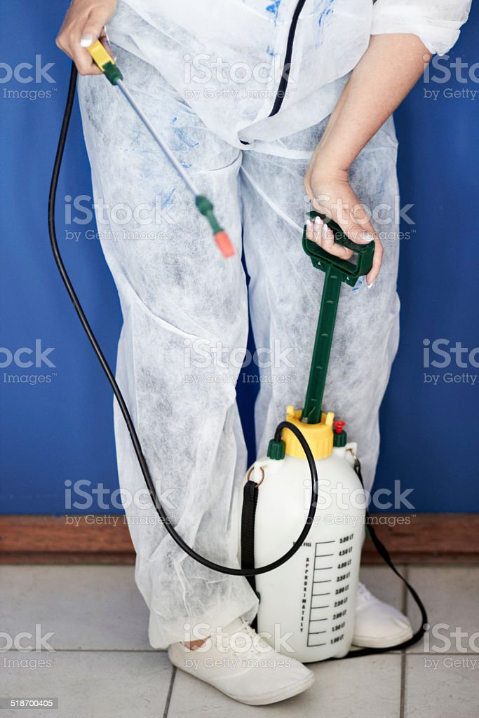 Fumigation stock photo