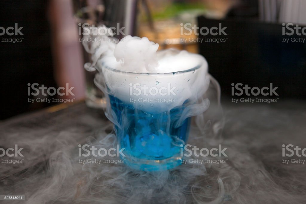 Fuming drink stock photo