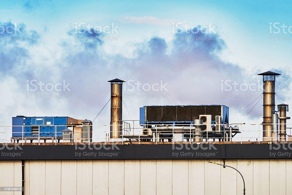 Fuming plant stock photo
