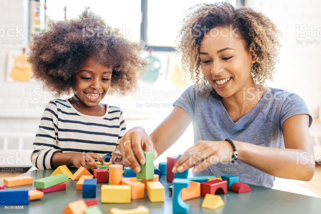 Fun activities for 3 years old stock photo