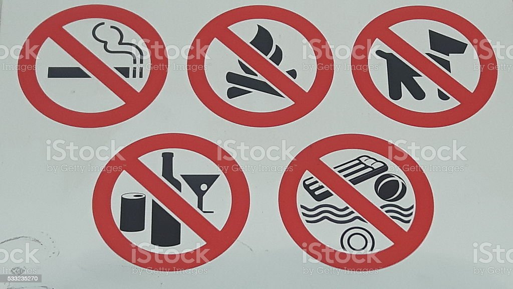 NO Fun allowed stock photo