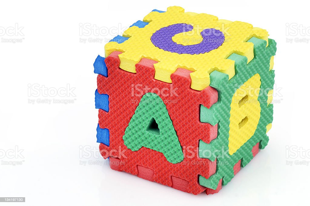 Fun alphabet cube royalty-free stock photo