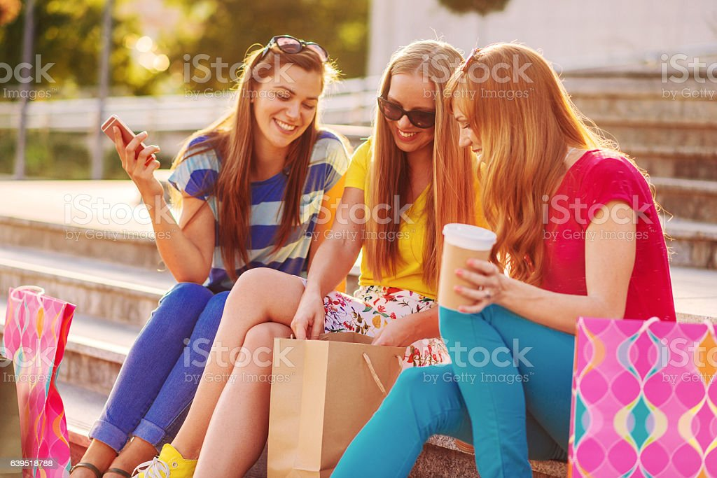 Fun and leisure time with my best friends stock photo