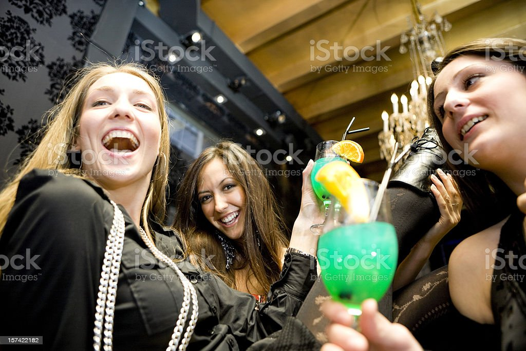 Fun at bar counter royalty-free stock photo