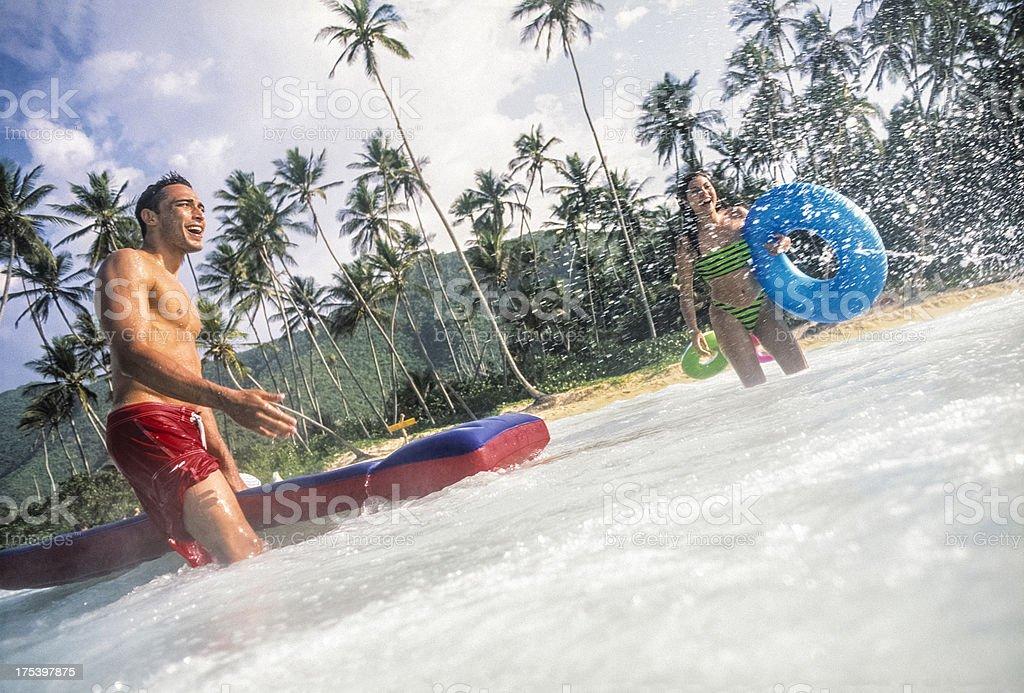 Fun At Beach royalty-free stock photo