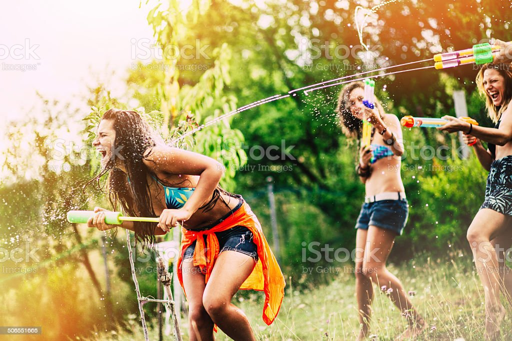 Fun at hot days stock photo