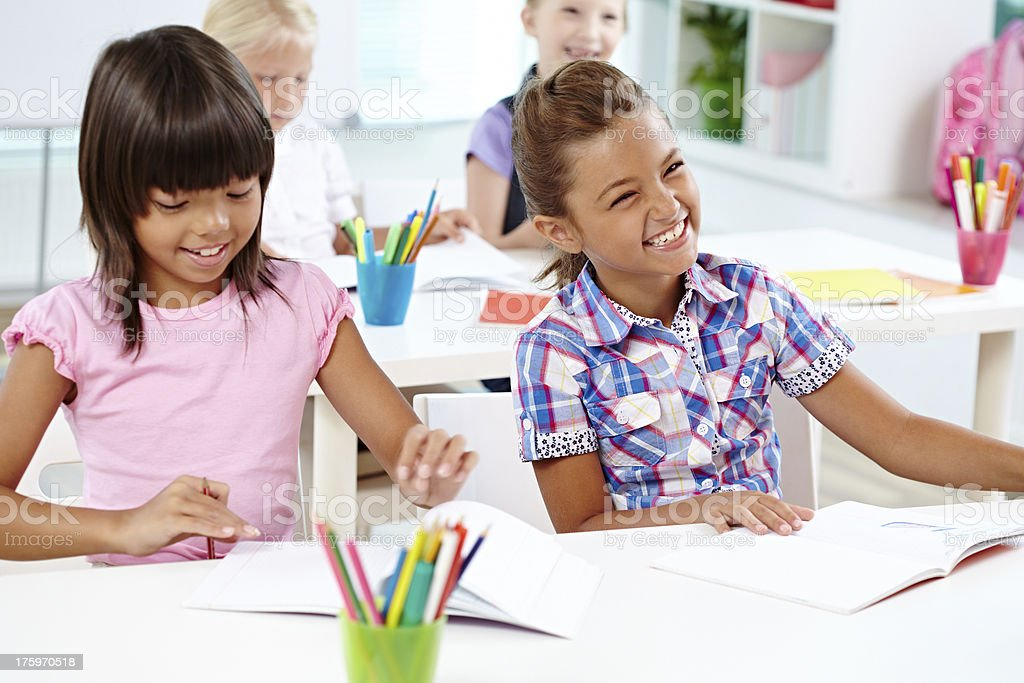 Fun at lesson royalty-free stock photo