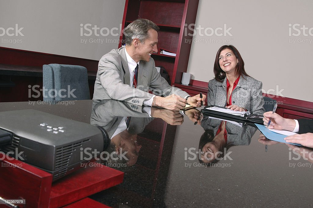Fun at the Boardroom Meeting royalty-free stock photo